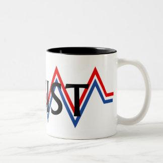 Patriottische Weerstand Tweekleurige Koffiemok