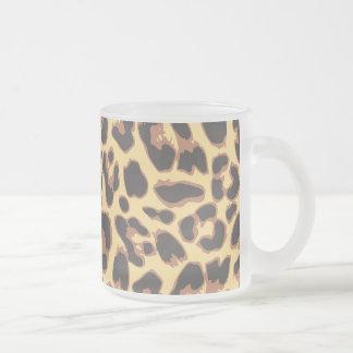 Patronen van de Huid van de Druk van de luipaard Matglas Koffiemok