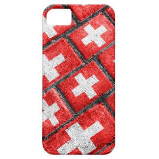 Patroon Grunge van de Vlag van Zwitserland het Barely There iPhone 5 Hoesje