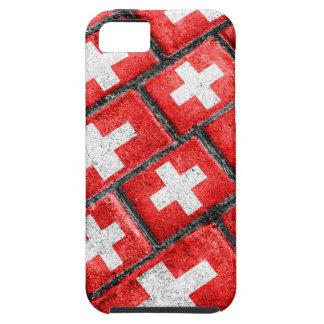 Patroon Grunge van de Vlag van Zwitserland het Tough iPhone 5 Hoesje