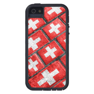 Patroon Grunge van de Vlag van Zwitserland het Tough Xtreme iPhone 5 Hoesje
