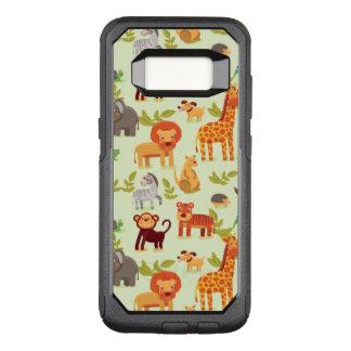 Patroon met de Dieren van de Cartoon OtterBox Commuter Samsung Galaxy S8 Hoesje