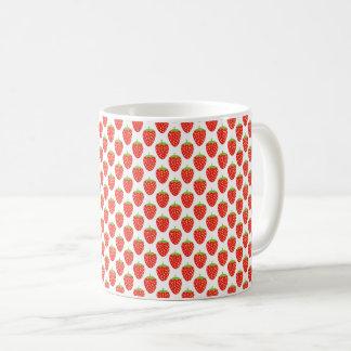 Patroon van de Aardbei van het Fruit van het Koffiemok