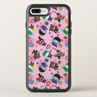 Patroon van de Actie van de Schurk van Chibi het OtterBox Symmetry iPhone 8 Plus / 7 Plus Hoesje