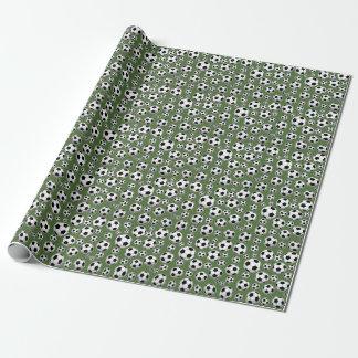 Patroon van de Bal van het Voetbal van de boom het Inpakpapier