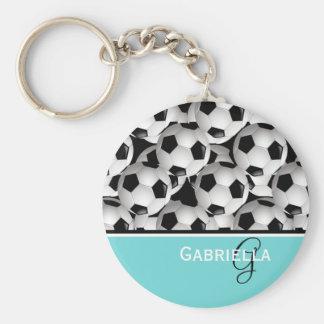 Patroon van de Bal van het Voetbal van het Sleutelhanger