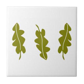 Patroon van de Bladeren van de Lente van de natuur Keramisch Tegeltje