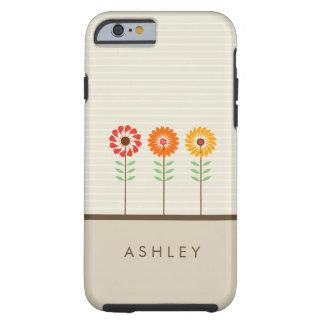 Patroon van de Bloemen van de Zon van Girly het Tough iPhone 6 Hoesje