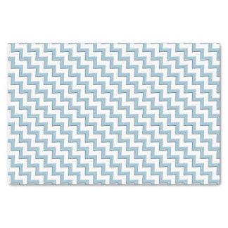 Patroon van de Chevron van Aqua het Blauwe 25,4 X 38,1 Cm Zijdepapier