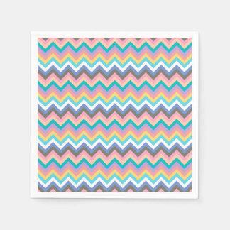 Patroon van de Chevron van de pastelkleur het Papieren Servet