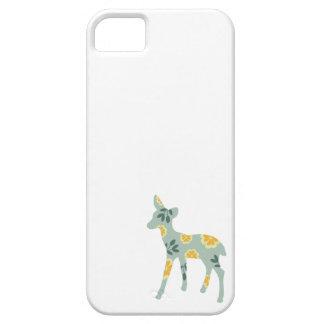 Patroon van de de kunstnatuur van herten fawn het  barely there iPhone 5 hoesje