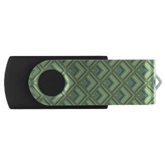 Patroon van de de strepenschaal van de olijf het swivel USB 2.0 stick