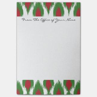 Patroon van de Diamant Ikat van Kerstmis van het Post-it® Notes