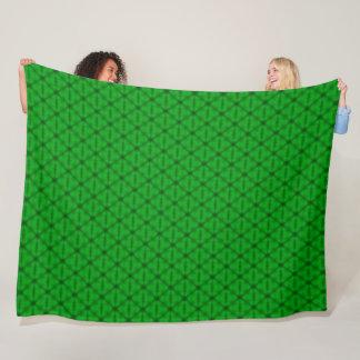 Patroon van de Driehoek van het limoen het Groene Fleece Deken