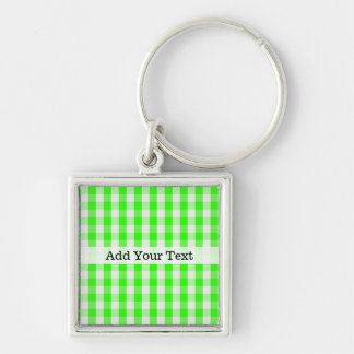 Patroon van de Gingang van het neon het Groene Sleutelhanger