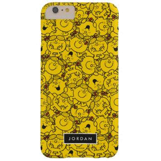 Patroon   van de Glimlachen van de pret voegt Geel Barely There iPhone 6 Plus Hoesje
