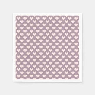 patroon van de hartenstippen van de pastelkleur papieren servet