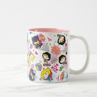 Patroon van de Heldin van Chibi het Super Tweekleurige Koffiemok