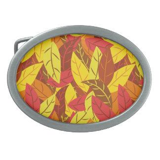 Patroon van de herfst kleurde warme bladeren gespen