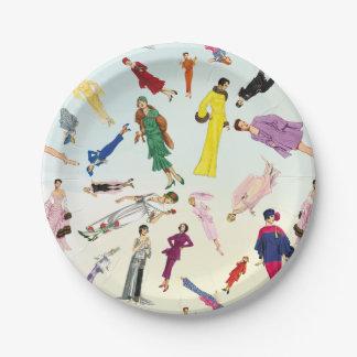 Patroon van de Illustratie van de Mode van de Papieren Bordje