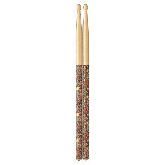 Patroon van de Krabbel van Paisley het Bloemen Drumstokjes
