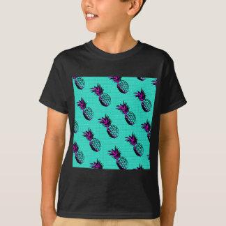 patroon van de mozaïek het turkooise blauwe ananas t shirt
