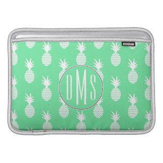 Patroon   van de Munt van de ananas Monogram MacBook Air Sleeves