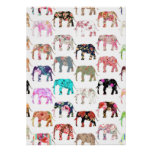 Patroon van de Olifanten van Girly het Capricieuze Poster