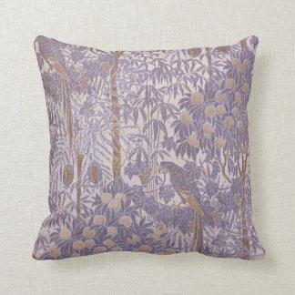 Patroon van de Papegaai van de lavendel het Paarse Sierkussen