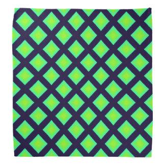 Patroon van de Plaid van de kiwi het Groene en Bandana