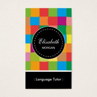 Patroon van de Privé-leraar van de Vreemde taal Visitekaartjes