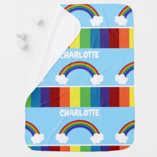 Patroon van de regenboog personaliseerde Kleurrijk Inbakerdoek