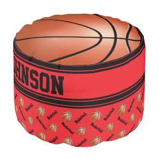Patroon van de Sport van het basketbal het Rode Poef