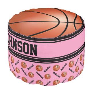 Patroon van de Sport van het basketbal het Roze Poef