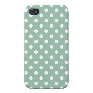 Patroon van de Stip van de Jade van Grayed het iPhone 4/4S Case