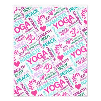 Patroon van de YOGA van Namaste, van de Vrede en v Flyer 11,4 X 14,2 Cm