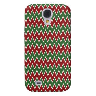 Patroon van de Zigzag van de Chevron van Kerstmis  Galaxy S4 Hoesje