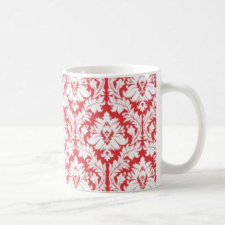 Patroon van het Damast van de papaver het Rode Koffiemok