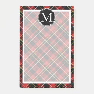 Patroon van het Geruite Schotse wollen stof van de Post-it® Notes