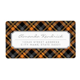Patroon van het Geruite Schotse wollen stof van Etiket