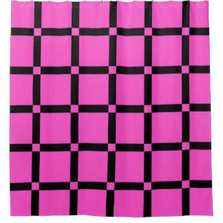 Patroon van het Net van het neon werpt het Roze Gordijn 0