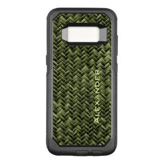 : Patroon van het Weefsel van de Mand Faux van het OtterBox Commuter Samsung Galaxy S8 Hoesje