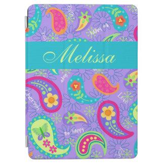 Patroon van Paisley van de lavendel het Turkooise iPad Air Cover