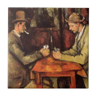 PAUL CEZANNE - Kaartspelers 1894 Tegeltje
