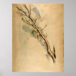 Paul Cezanne Studies van een Boom Poster
