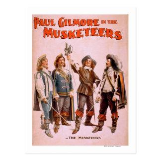 Paul Gilmore in de Theatrale Musketiers Briefkaart