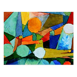 Paul Klee: Het abstracte art. van de Vormen van de Briefkaart