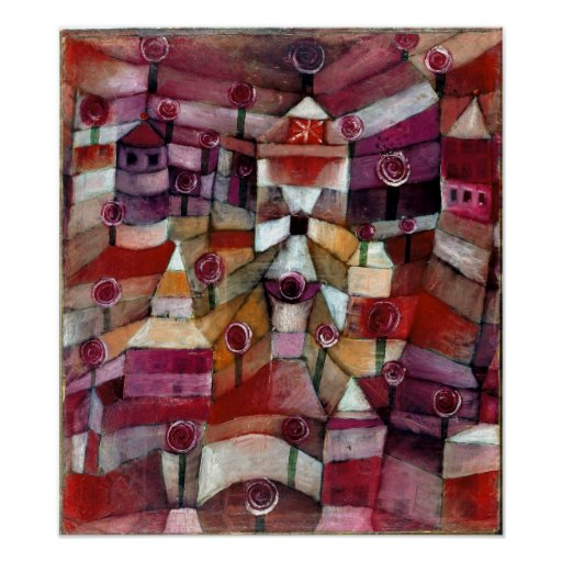 Paul Klee nam Tuin toe Poster