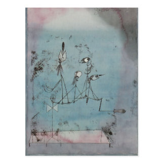 Paul Klee- Twittering Machine Briefkaart