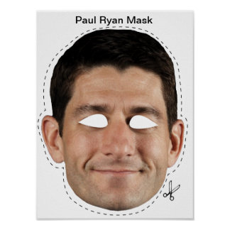 Paul Ryan Halloween Mask Poster